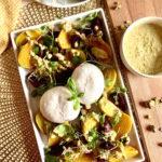 Roasted beets with burrata and pistachio vinaigrette