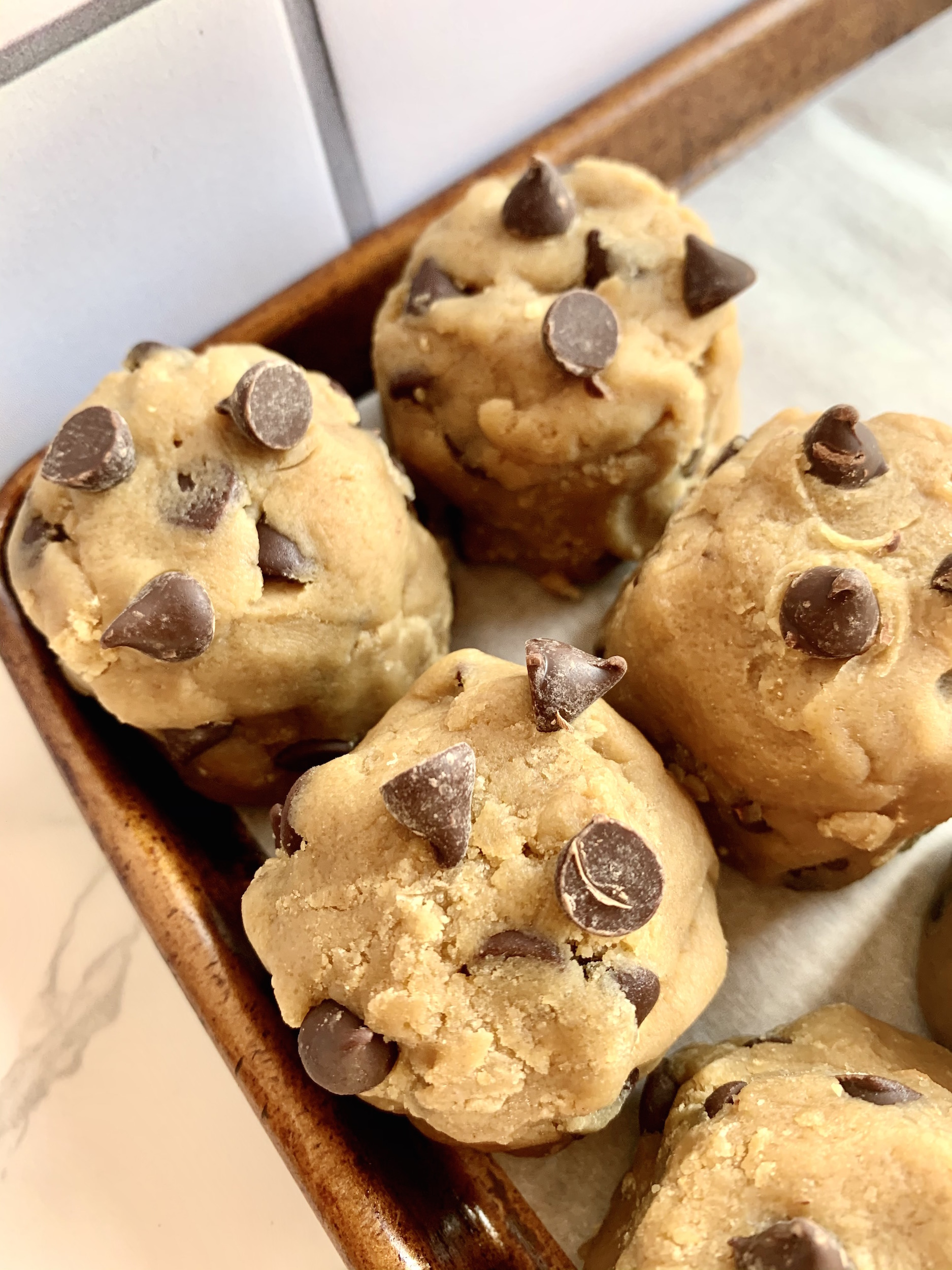 Chocolate chip cookie dough mounds